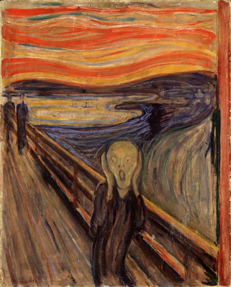 ORIGINAL: 1893. EL GRITO. MUNCH. expresionismo