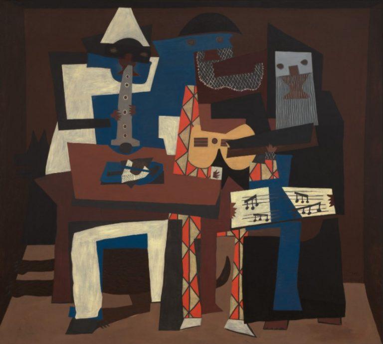 ORIGINAL: 1921. LOS TRES MÚSICOS. PICASSO. cubismo
