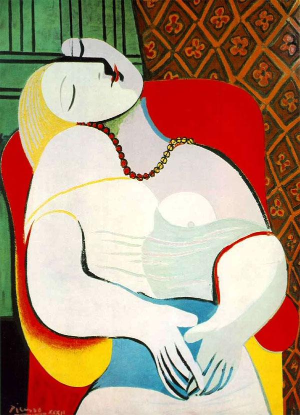 ORIGINAL: 1932. EL SUEÑO. PICASSO. cubismo