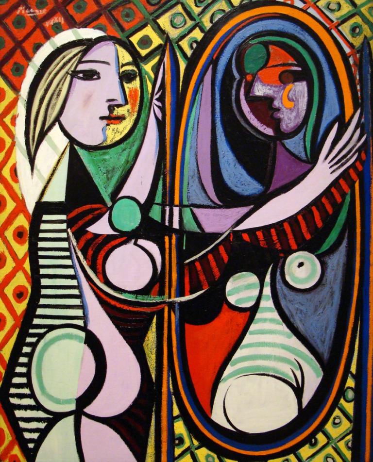 ORIGINAL: 1932. MUJER FRENTE AL ESPEJO. PICASSO. cubismo