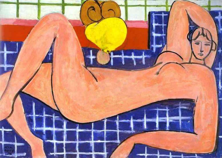 ORIGINAL: 1935. LARGE RECLINING NUDE (Desnudo Rosa). MATISSE. fauvismo