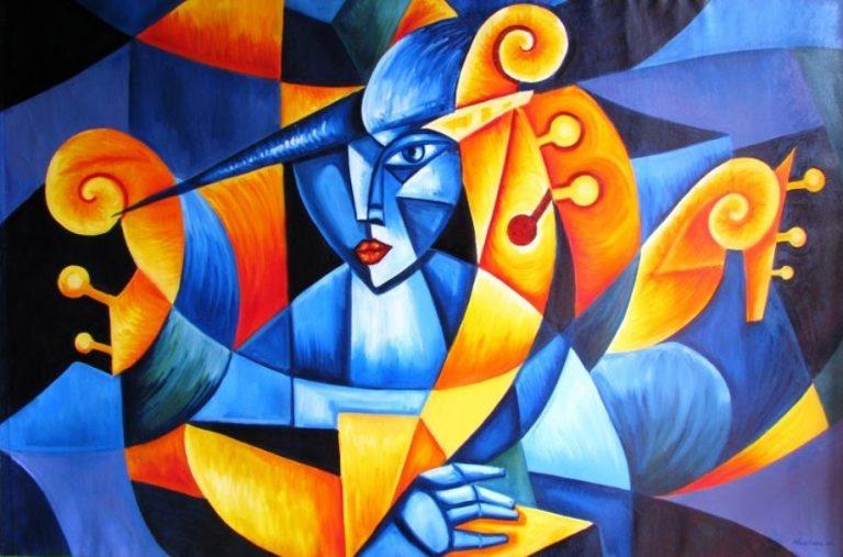 ORIGINAL: S. XX-XXI. ARLEQUÍN. JUAN BARCO. cubismo