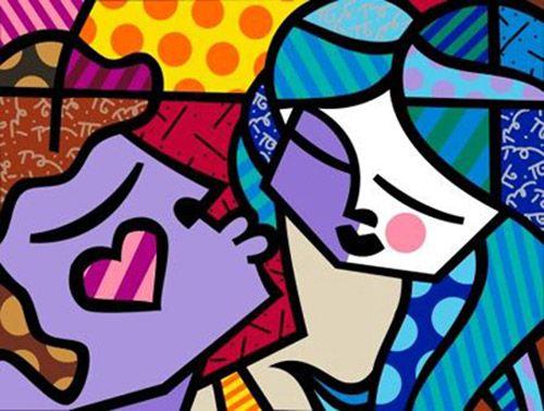 ORIGINAL: S. XX-XXI. SWEET KISSES. ROMERO BRITTO. pop art
