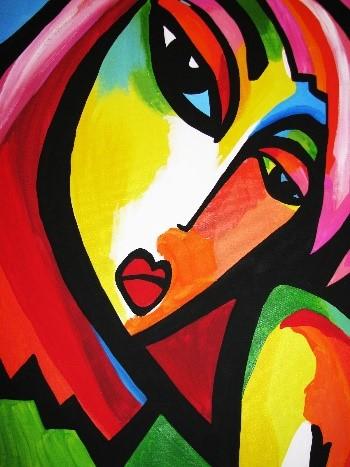ORIGINAL: S. XXI. WARM LOVE. MARTINA SHAPIRO. pop art